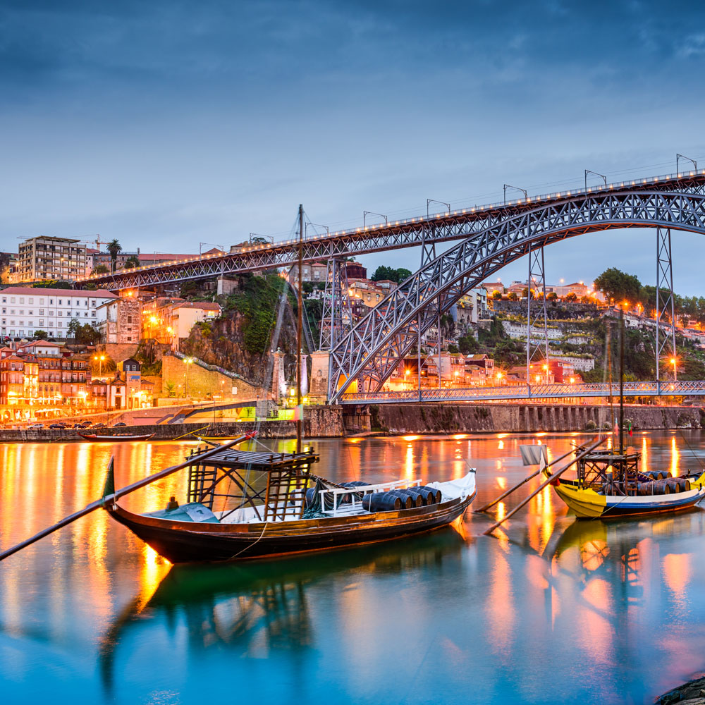 Douro river through Oporto