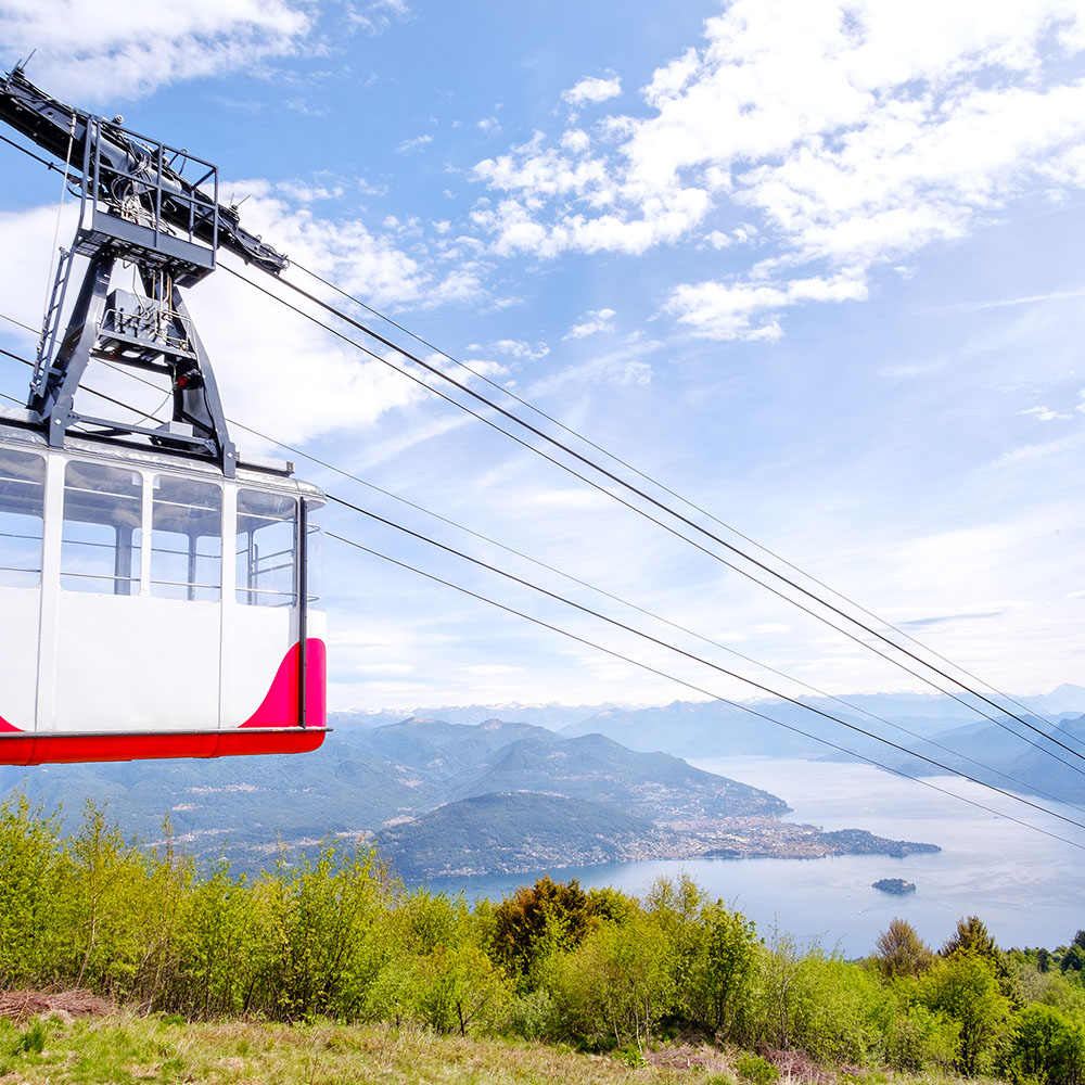 Mount Mottarone cable car (optional)