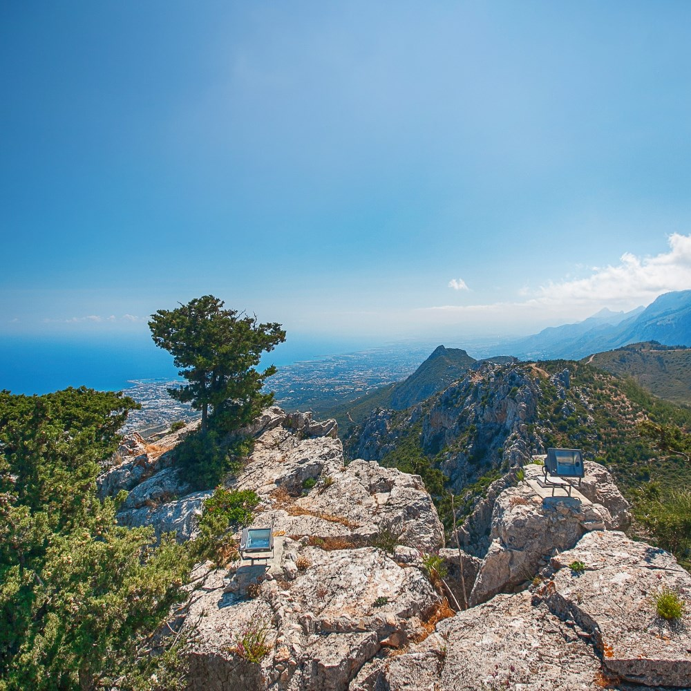 View from St Hilarion Caste