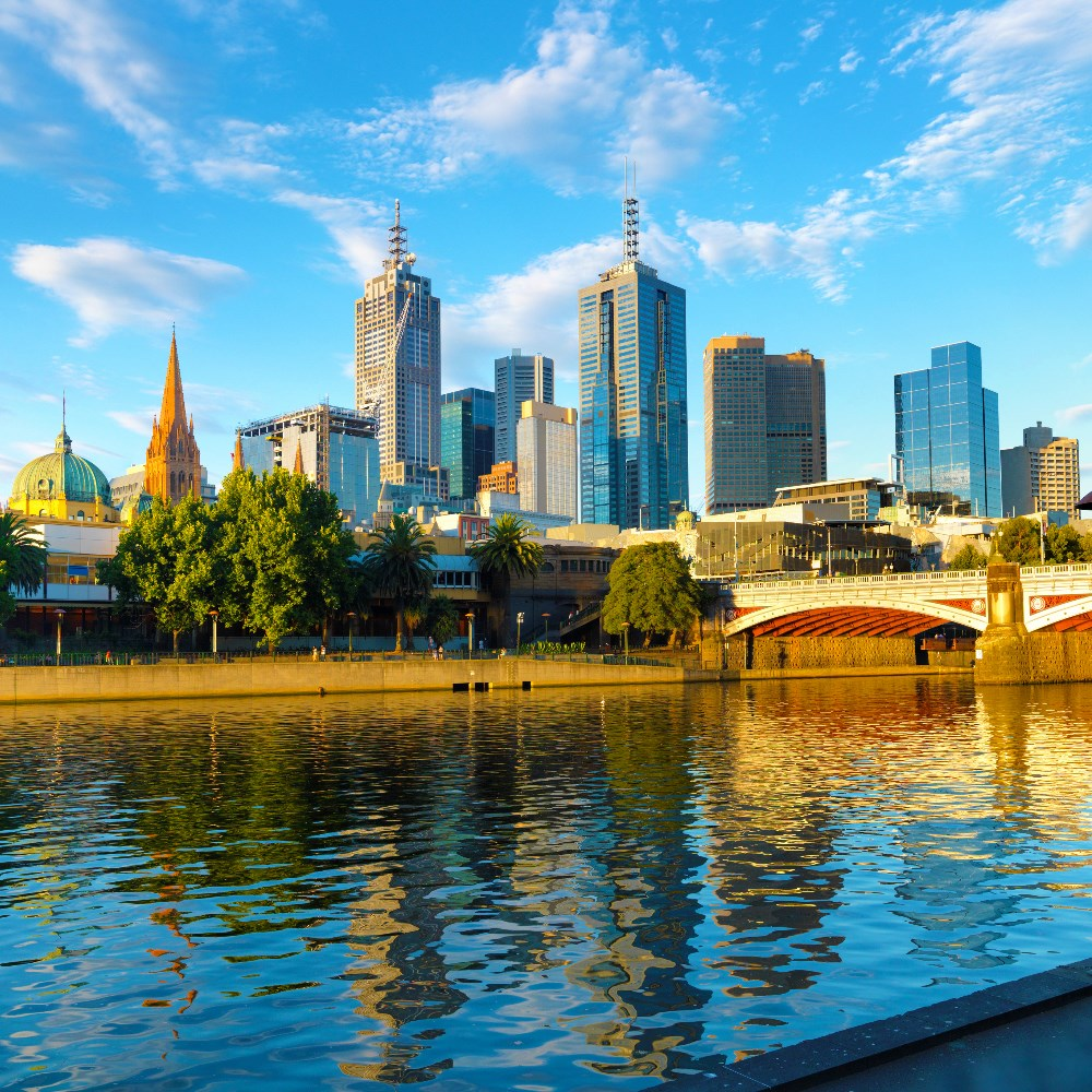 Melbourne on the Yarra River