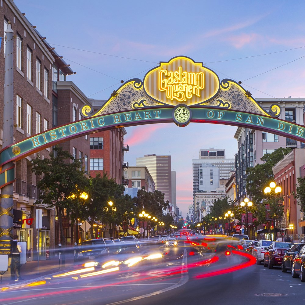 Entrance to San Diego's Gaslamp Quater